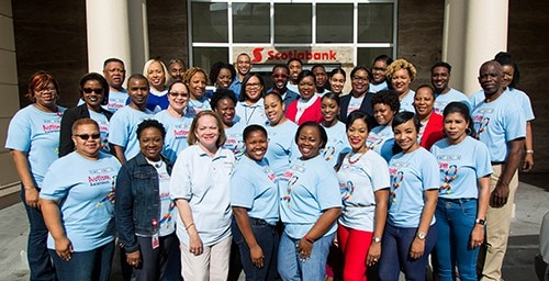 Scotiabankers Go Blue For Autism